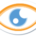 Omnigrade logo eye white stroke
